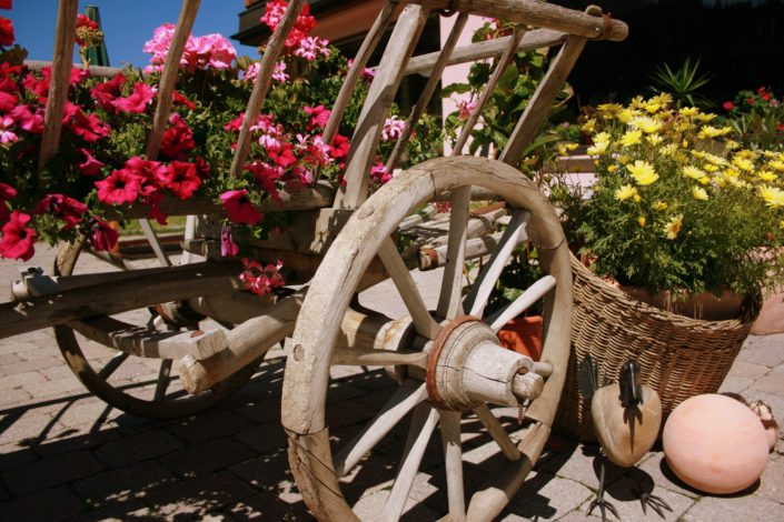 Detail Blumenwagen Lech