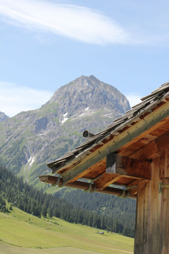 Dachdetail - Sommer in Lech