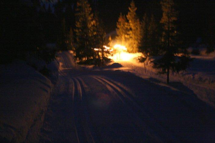 Wandern am Abend in Lech