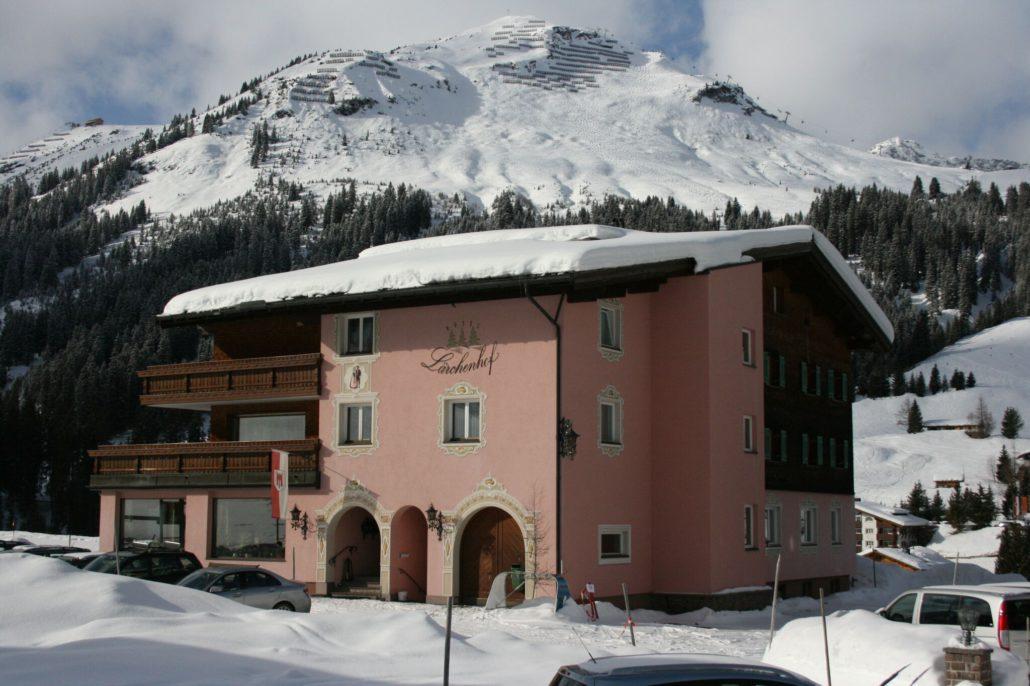 Winteransicht Hotel Garni in Lech